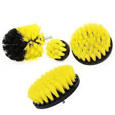 Electric cleaning brush device for cleaning baths scourer tool wash brush-yellow