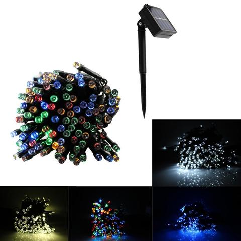200 LED Sunlight String Outdoor Waterproof Garden 3 Mode Christmas lights LED Solar Lamp garland 20 m Home Decor-Green