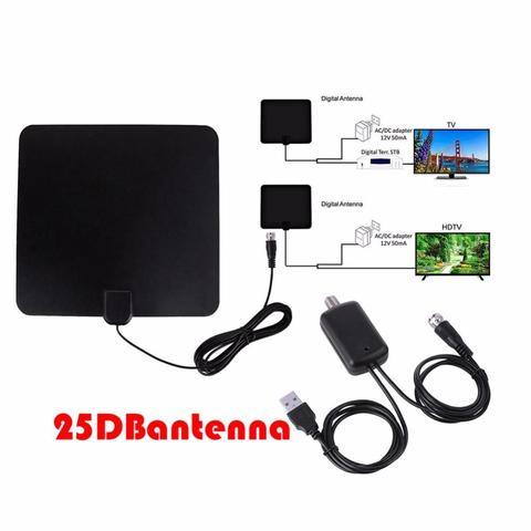 HD TV digital signal 100 miles long-term Indoor TV antenna with removable DTMB amplified ATSC ISDB-T DVB-T TV Surf Fox Antena-Black