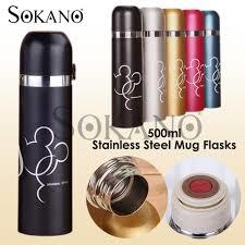 SOKANO 500ML TF001 M MOUSE STAINLESS STEEL THERMOS TUMBLER WATER BOTTLE STAINLESS STEEL MUG FLASKS-1Pc