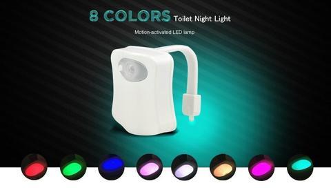 BRELONG WG16 8-color Smart PIR Toilet Night Light - White 18