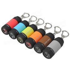 Mini Keychain Flashlight Pocket LED USB Rechargeable Flashlight Key Tool-1Pc