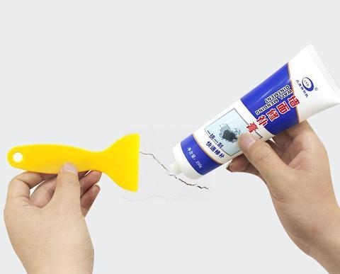 250g White wall repair cream wall mending ointment grouts sealant for wall peeling graffiti clearance repair agent building tool-White