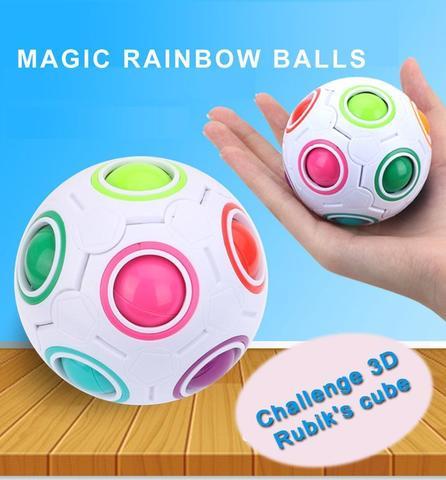 Puzzle Decompression Magic Rainbow Ball Creative Mini Football Cube - colour
