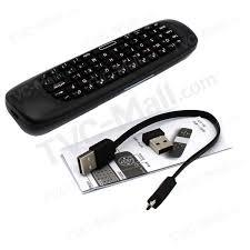 WS-505 3 in 1 Air Mouse 2.4GHz Wireless Keyboard Remote Control - Black