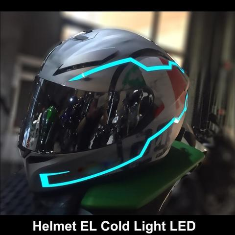 Motorcycle helmet EL Cold light strip night sign luminous light modified strip motorcycle Motocross Racing helmet LED strip