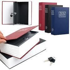 Creative Book Booksafe Key Lock Safe Diversion Secret Stash Hidden Security Box