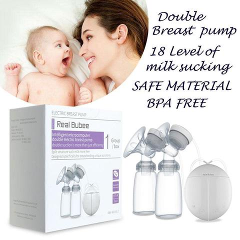 Automatic Double USB Electric Breast Pump w/ 150ml Bottle Baby Feeding Feeder