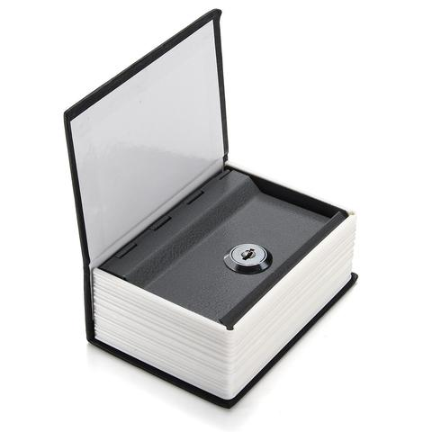 Home Security Dictionary Book Secret Safe Box Storage Key Lock Box Cash Jewellery Saving Money Box - Black