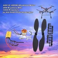 A2212 1000KV Motor + 30A Brushless ESC+ 1045 Propeller For DJI F450 550 FNHB-Black