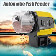 Adjustable Aquarium Automatic Auto Tank Pond Fish Mate Food Feeder Feeding Timer-Yellow