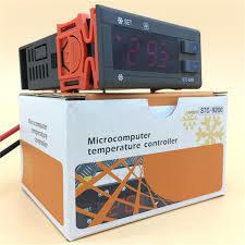 STC-9200 Temperature Controller Refrigeration Defrosting Alarm Dual Sensor-Black