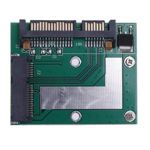 5cm Half Height mSATA Mini PCI-e SSD to 2.5in SATA3 Converter Adapter Card