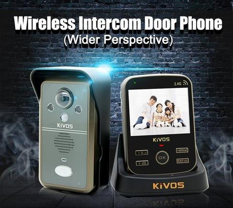 KDB302A Video Door Phone Intercom 1 Camera and 1 Wireless PIR Monitors Take Photo 2 Way Audio-Black