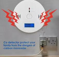 Carbon Monoxide Gas Detection,CO Detector Alarm LCD Portable Security Gas CO Monitor,Battery Powered,Alarm Clock Warning