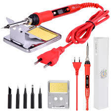 JCD 80W LCD Electric soldering 220V Adjustable Temperature Soldering iron-Red