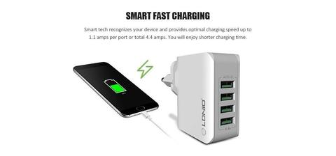 4 Port USB Wall Charger Adapter for Mobile Phone