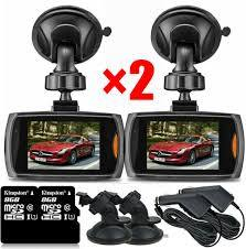 2x1080P Car DVR Dash Vehicle Camera Video Night Vision