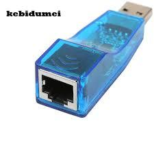 USB 2.0 to Fast RJ45 Ethernet 10/100 Mbps Network Lan Card for Windows, PC, Androids – Blue