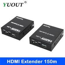HDMI Extender/Extension 150 Meter Length Over LAN CAT6 CAT5e Cable H.264
