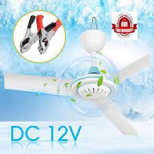 12V 3 Blade 500mm Soalr ceiling Fan With 12V Power Supply-White