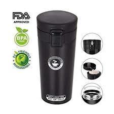 Stainless Steel Travel Vacuum Insulated Coffee Mug-Black