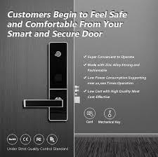 Digital Electronic Hotel Card Door Lock-Black