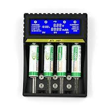 BTY-V407 battery charger Li-ion Ni-MH Ni-cd Smart Fast Charger 18650 26650 6F22 9V AA AAA 16340 14500 battery charger