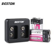 BESTON 9V Rechargeable LI-ion Lithium Battery charger plus 9V 800mah battery kits