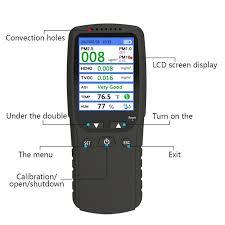 8 In 1 Formaldehyde Air Quality Detector Gas Analyzer Comprehensive PM2.5 Detector HCHO TVOC Multifunction Air Quality Tester