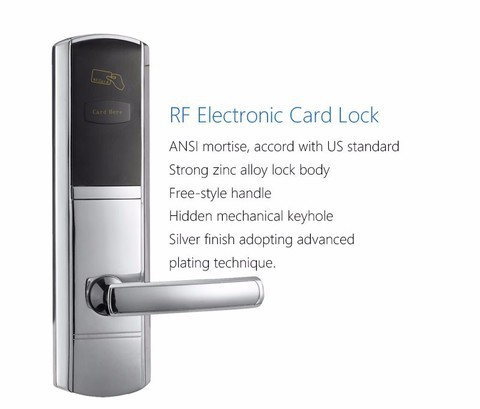 Electronic Hotel Door Lock -Silver