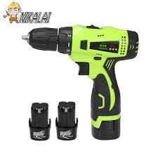 Cordless Electric Screwdriver Hand Drill-Green