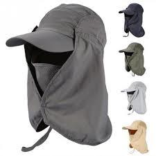 Outdoor sun hat Face Protection UV Removable Flap Neck Outdoor Sports Hiking fishing cap
