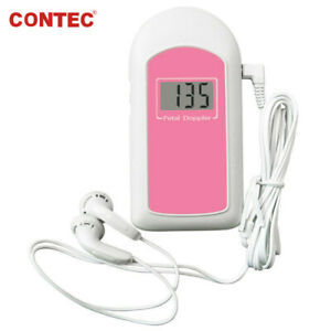 Contec BABYSOUND Pocket Fetal Heart Doppler US FDA Approved LCD + Earphone