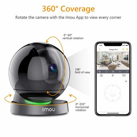 Dahua Imou IPC-A26HP 2MP Wifi Camera 1080P H.265 Support SD Card 128G Infrared Night Vision MIC 2 Way Voice-Black