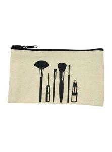 Jute Cotton Makeup Organizer Bag