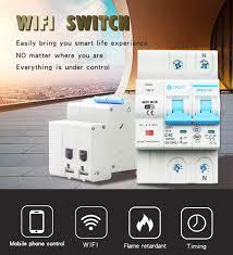 Smart Life 2P 40A Remote Control Wifi Circuit Breaker/Smart Switch overload,short circuit protection for Smart home tuya app