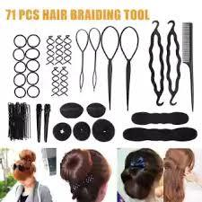 Dish Hair Accessories Pulling Needle Hook Plate Hairdressing Tool Comb 71Pcs