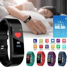 115 plus smart watch heart rate monitor Blood Pressure Fitness Tracker Smartwatch