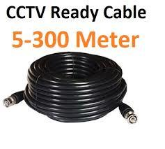Coaxial CCTV BNC Ready Cable for CCTV Camera - Black