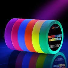 Neon Tape UV Blacklight Fluorescent Tape 1PC