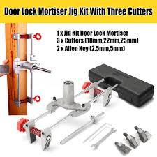 Door lock Mortiser Jig kit with three cutters