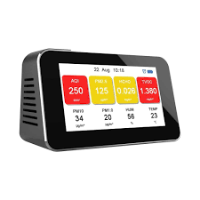 Multi functional air quality detector detects dust PM2.5 formaldehyde HCHO TVOC