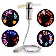 DIY flexible Gooseneck Aprogrammable fans USB LED MINI RGB programmable Fan