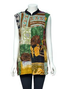 Embroidered Cotton Waistcoat for Women