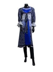 Silk Georgette Ladies Long Kurta with Coat