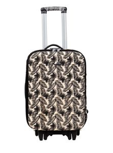 Jute Cotton Travel Trolley Luggage Bag