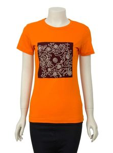 Embroidered Cotton T-Shirt for Women