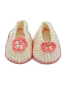 Hand-Woven Knit Wool Baby Shoes