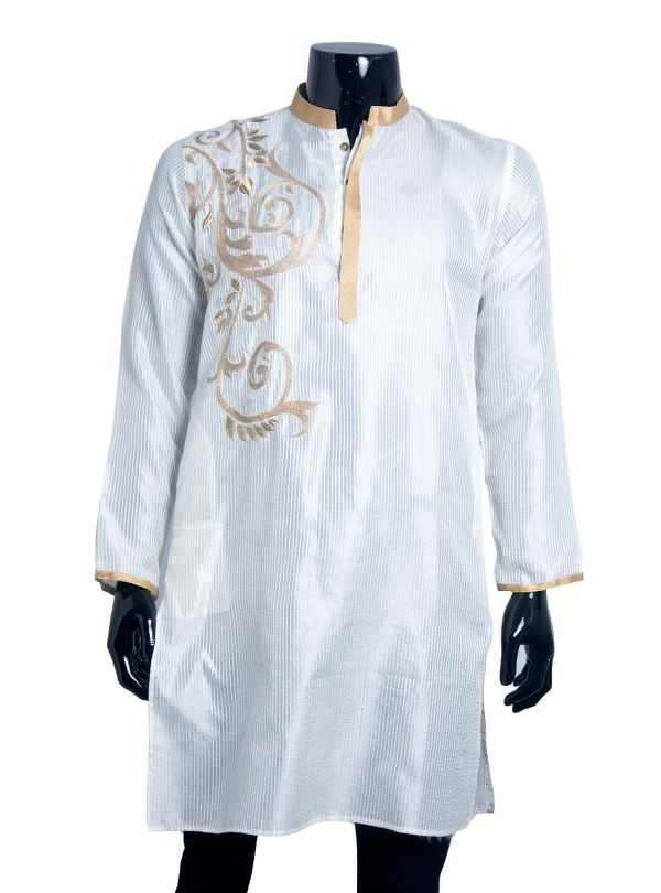Embroidered Silk Panjabi for Men